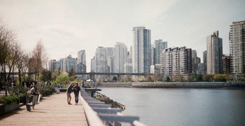 منظرهای از درون شهر زیبای ونکوور کانادا
